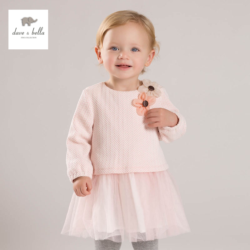 DB4881 dave bella spring baby cute dress baby girl fairy dress children s boutique clothes girl