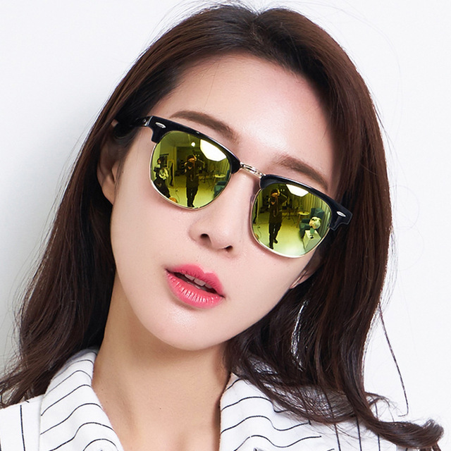 190578d6ae30 Semi-Rimless Sunglasses Women Men Retro Classic Ray Sunglass Half Frame Sun  Glasses Unisex Densigner Male Female Eyeglasses