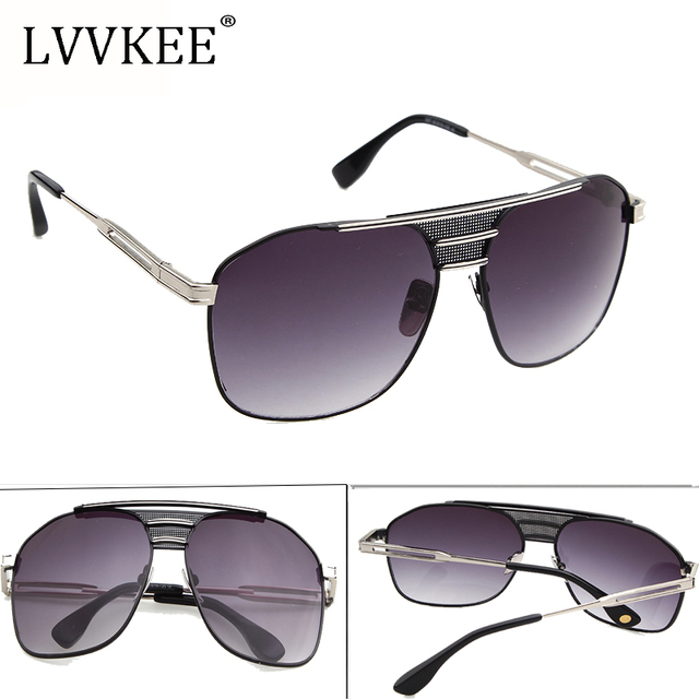 4ac7e43ad3 LVVKEE 2107 New Luxury Square Sunglasses women men Big Oversized Sunglass  brand designer Lady Metal