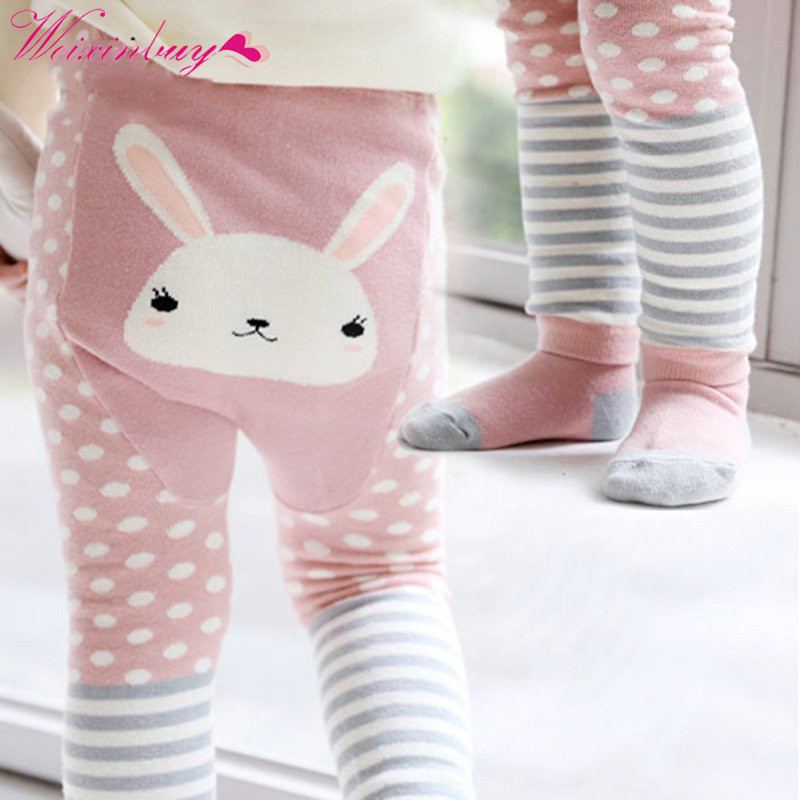Baby Pants Cartoon Bee Monkey Rabbit Tights Baby Girl Boy Cotton Stocking Children Pantyhose Slim Pants