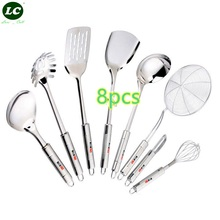 Cooking Tool Sets KITCHEN USTENSIL 8PCS SCOOPS COOKING TOOLS SET SPOON SPATULA COLANDER SHAPE PARER