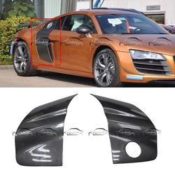 R8 боковой двери Penel углеродного волокна тела Наборы экстерьер автомобиля Frame крылья крышка лезвия вспышек для Audi R8 2008-2014 стайлинга