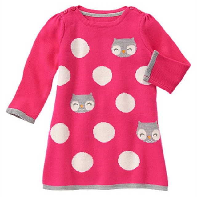 fb1afef74a4e New girls red knit dress,kids Christmas dress with cats pattern,happy knitted  clothing (2-8 yrs)