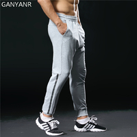 GANYANR Brand Running Pants Men Sport Leggings Training Jogging Gym Long Fitness Quick Dry Slim Fit