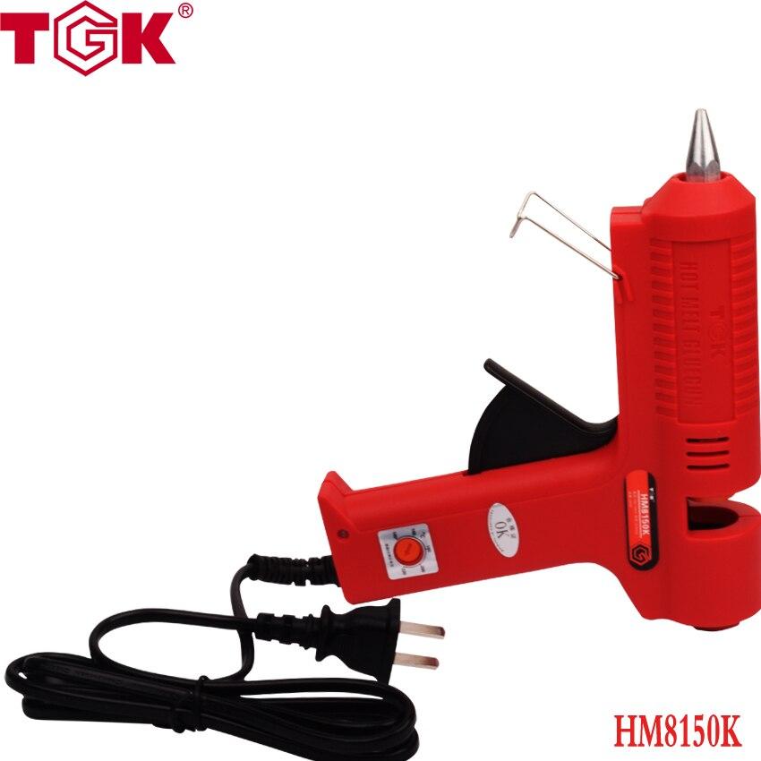 (1 piece/lot) 150 W 140 Degree To 230 Degree Temperature Adjustable Hot Melt Glue Gun HM8150K Fit 11 mm Stick Grafting Tools 100w temperature adjustable hot melt glue gun 220v