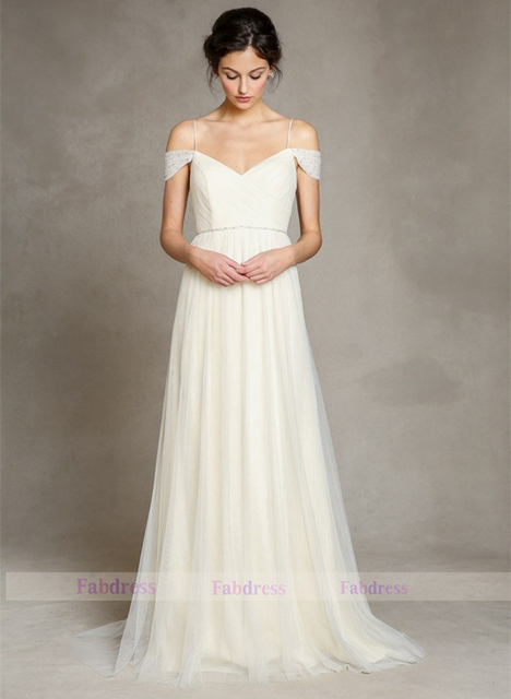 Ivory Soft Tulle Bridal Gown/Sweethear Deep V Back Bridal Dresses ...