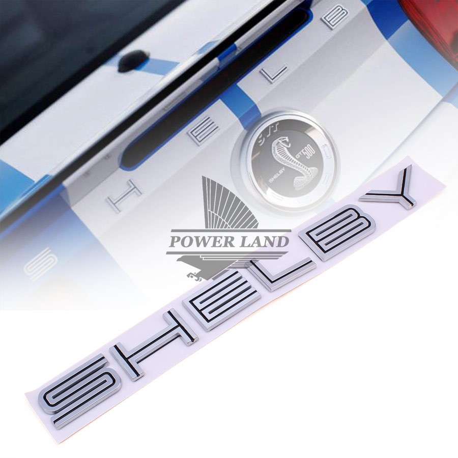 Blak/Red Inset Silver ABS Ford Shelby Lettering Decklid Stickers 3D Badge Emblem Decal Sticker Fits for Ford Mustang Cobra GT статуэтки forchino статуэтка shelby cobra 427 s c