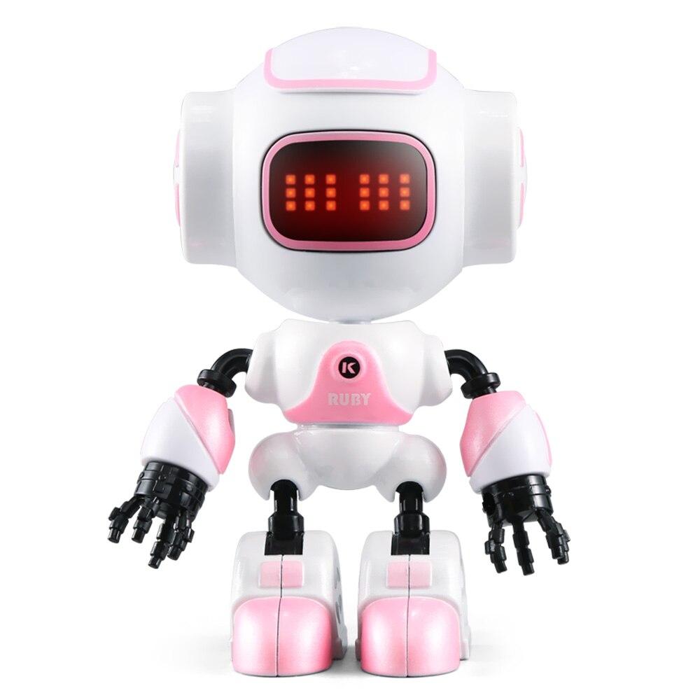 JJRC R9 RC Robot rubí Touch Sensing LED ojos DIY Control gesto Mini Smart voz aleación Robot juguete niños regalos de cumpleaños