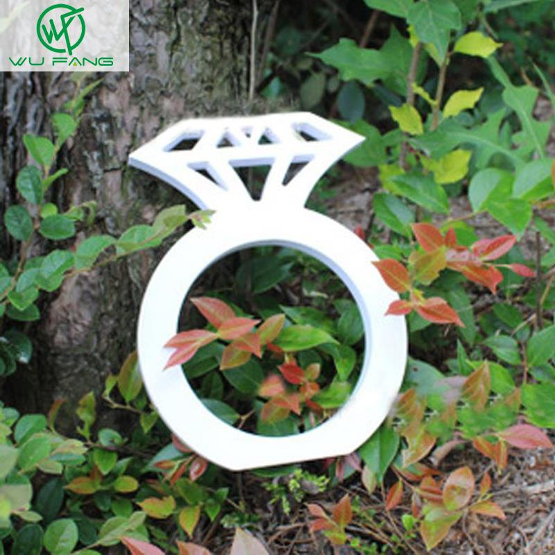 Wood diamond Sign Wedding Decoration Photo Booth Props Wooden Hand diamond ring Party Gifts Home accessories supplies 2sizes
