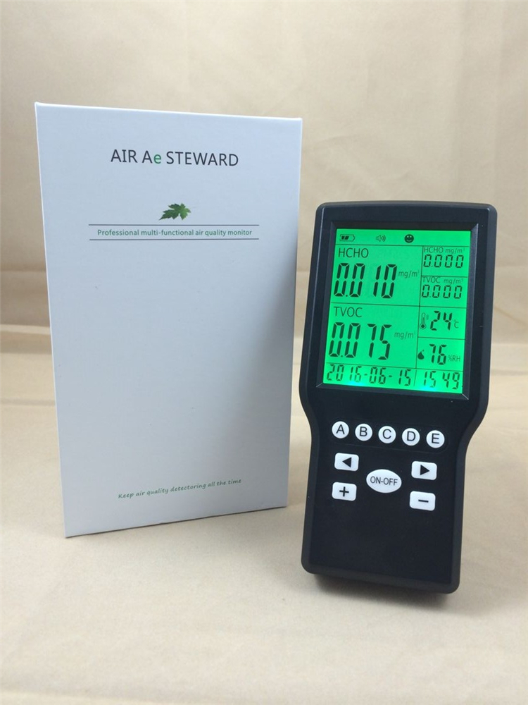 Household Formaldehyde/HCHO/Temperature/RH 4 in 1 air Monitor digital indoor air quality carbon dioxide meter temperature rh humidity twa stel display 99 points made in taiwan co2 monitor