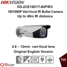 Hikvision Original English Version DS-2CE16D1T-AVFIR3 HD1080P Vari-focal IR Bullet Camera 2MP 2.8-12mm 40m IR CCTV Camera