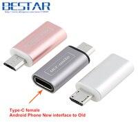 TOP Quality Rose Gold Metal USB 3 1 Type C USB C Female To Micro USB