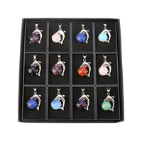 12pc Fashion High Quality Natural Stone Dolphin Amulet Pendant Jewelry Production