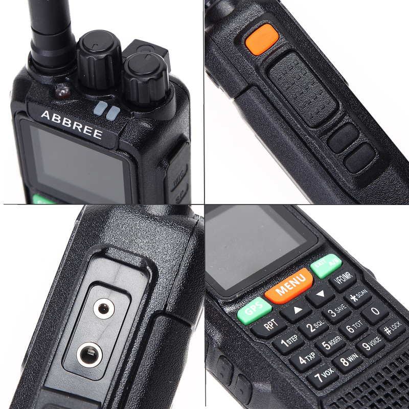 ABBREE AR-889G GPS SOS 10 W 999CH Croix Bande Répéteur Nuit Rétro-Éclairage Tri Bande 134-174/400-520/350- 390 MHz (RX) radio Talkie Walkie - 4