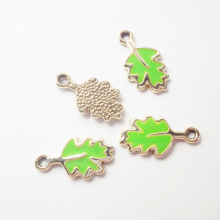 20pcs lot 11 21mm Green Grape leaves Charms Zinc Alloy DIY Jewelry Accessories Pendant