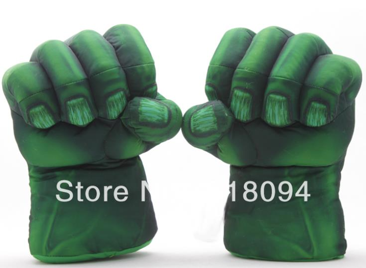 "Plush The Incredible Hulk Gloves 11 inch"" Superhero Figure Toys Children Christmas Kids Toy 1set"""