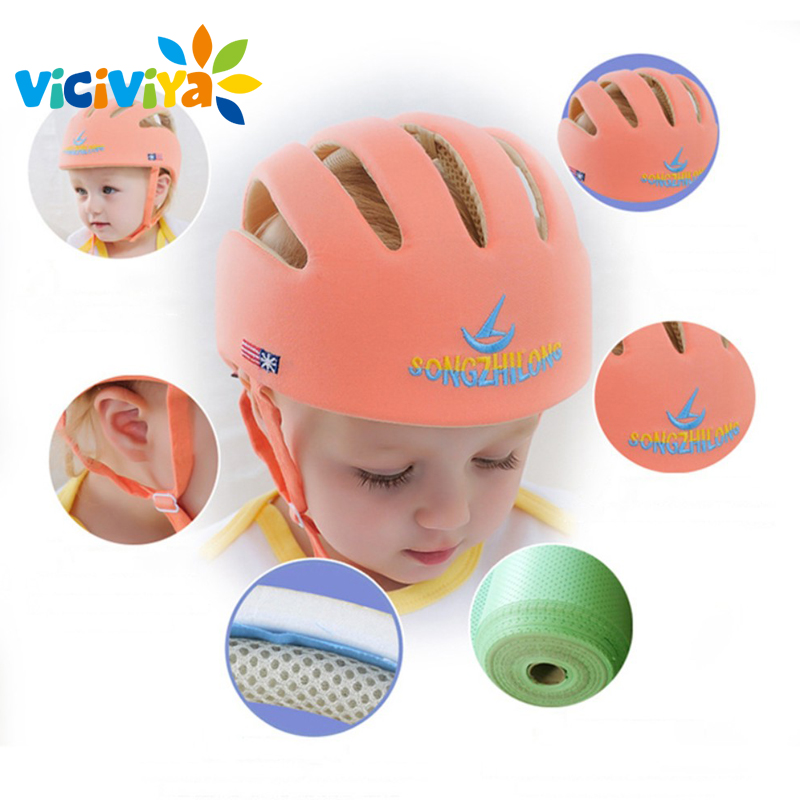 Image 2 - VICIVIYA Infant Protective Hat Safety Helmet For Babies Cotton Baby Toddler Anti collision Cap Kids Sun Hats Soft Children Caps#-in Hats & Caps from Mother & Kids