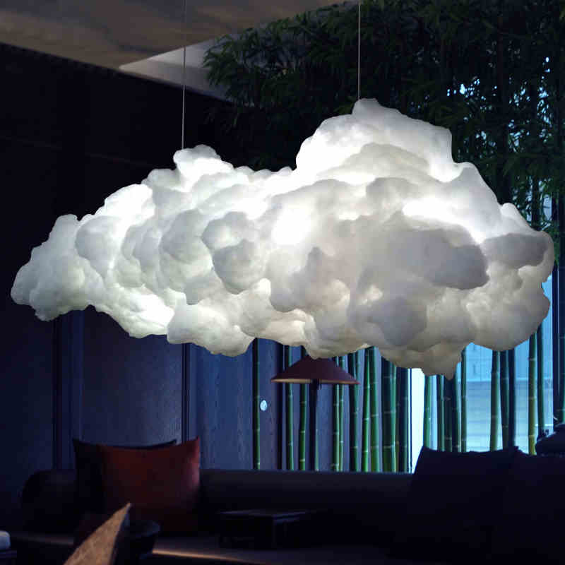 Nordic Clouds Pendant Lights Silk Lamp Hanglamp Decor Hanging Light For Hotel Lobby Restaurant Living Room Bar Nordic Clouds Pendant Lights Silk Lamp Hanglamp Decor Hanging Light For Hotel Lobby Restaurant Living Room Bar