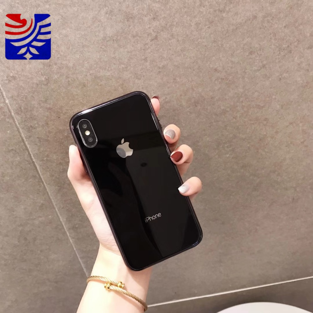 PEIPENG Luxury made of electroplated glass Anti-fall Phone Cases For iphone 6 6S 7 8 Plus X Xs Max Christmas gift Girl Simple and stylish12