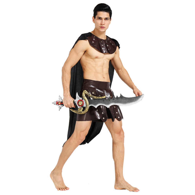 ... Carnival Ancient Roman Greek Soldier Gladiator Costumes Leather Spartan Warrior Costume for Adult Men Women Couple ...  sc 1 st  Family Pops Store! & Halloween Carnival Ancient Roman Greek Soldier Gladiator Costumes ...
