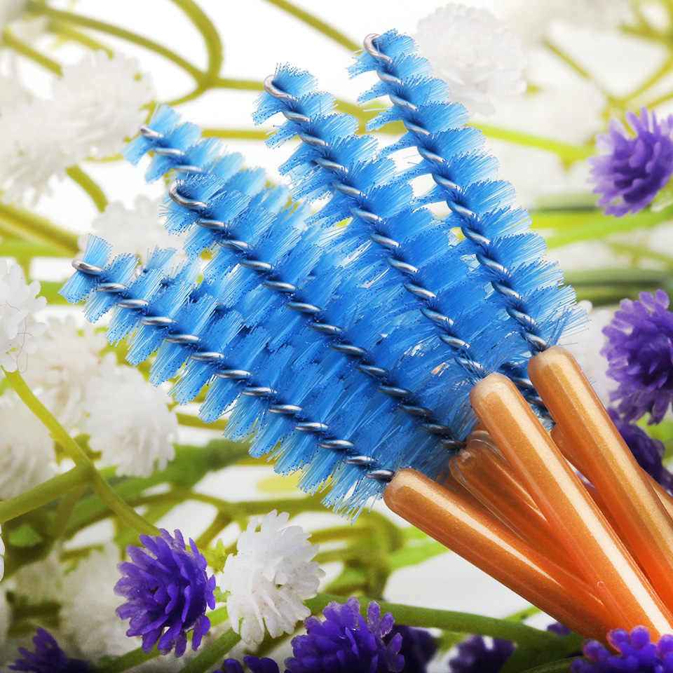 100 pièces brosse dorée pour cils et sourcils livraison gratuite haute qualité brosses à cils jetables brosse en plastique outils de maquillage