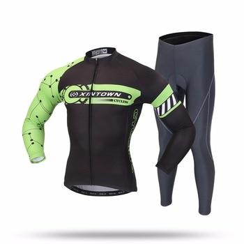 XINTOWN Велоспорт комплекты с длинным рукавом дышащий Джерси одежда Bicicleta Mountain Bike Ропа Ciclismo велосипедов с длинными рукавами BEIGOU