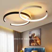 Black/White modern led chandelier lighting for living room bedroom restaurant kitchen ceiling chandeliers home indoor lighting