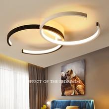 黒/白現代のledシャンデリア照明リビングルームの寝室のレストランキッチン天井のシャンデリアホーム屋内照明