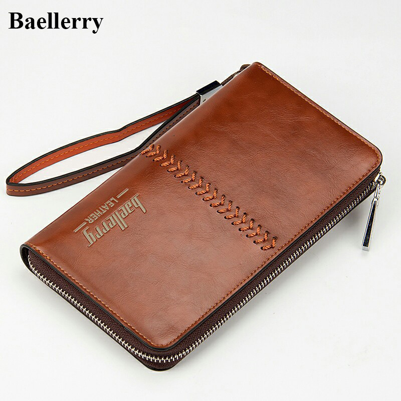 2017 Long Men Wallets Leather High Capacity Brand Casual Purses Male Money Credit Card Holder Zipper Pocket Phone Clutch Bags 2016 famous brand new men business brown black clutch wallets bags male real leather high capacity long wallet purses handy bags