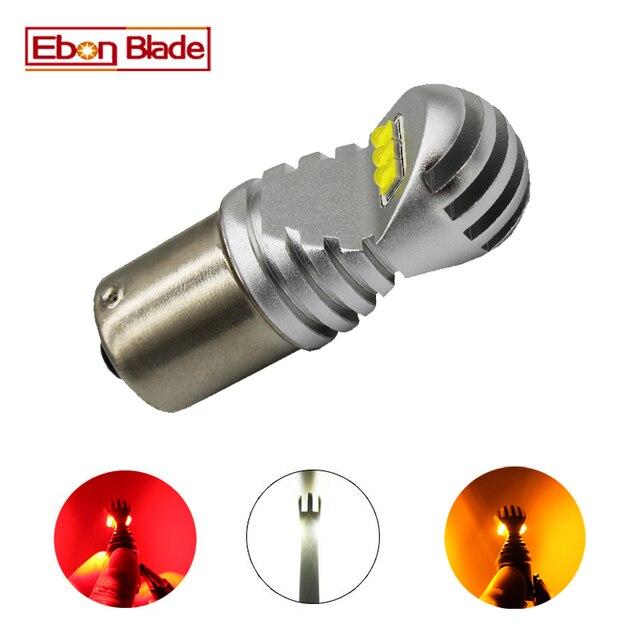1x1156 BA15S P21W 1157 BAY15D P21/5 W BAU15S LED נורות 30 W רכב הפוך בלם הפעל אות אור אוטומטי מנורת לבן אדום אמבר 12 V 24 V