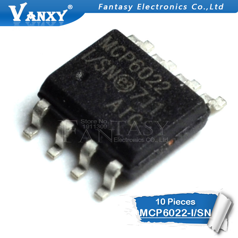 10PCS MCP6022-I/SN SOP-8 MCP6022-I SOP MCP6022 SMD SOP8