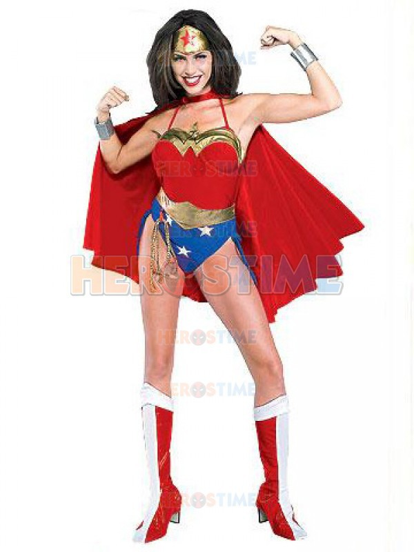 Sexy Wonder Woman Costume Red Spandex Cosplay Wonder Woman Superhero Costume The Most Popular Female Dress Free Shipping