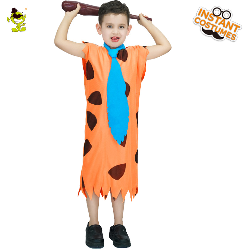 The Flintstones TV Cartoon Boys Kids Caveman Fancy Dress Cosplay Party Costume