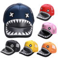 2016 New Korean Style Summer Shark Tooth Hats Snapback Baseball Cap Lovers Hats Hip Hop Hat Sun Shade Caps Adults Kids