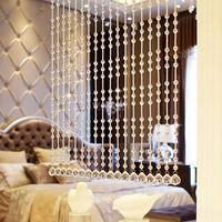 Вышитая бисером занавеска, дверь, окно, комнатная панель, блестящий хрустальный шар, кисточка, линия, дверь, окно, занавеска для разделения к