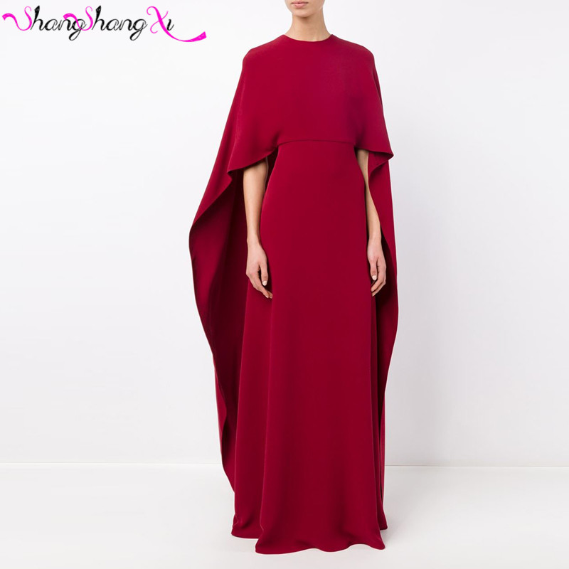 Long Evening Dress with Cape