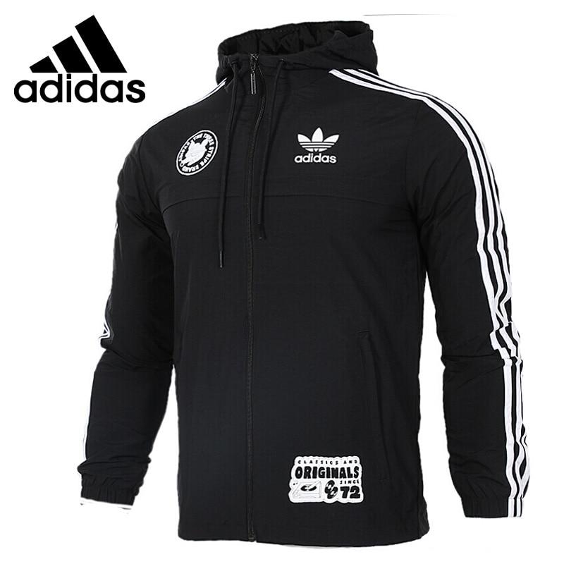 Original New Arrival 2017 Adidas Originals Badge Windbreak Men's jacket Hooded Sportswear original new arrival adidas originals women s patchwork jacket hooded sportswear
