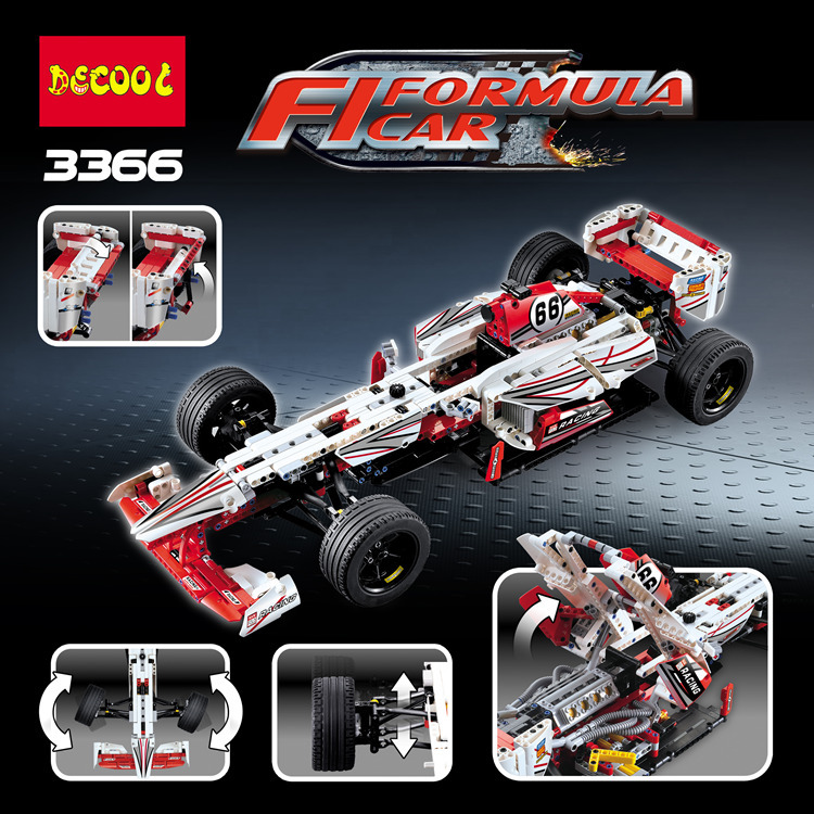 Décool 3366 1219 pièces blocs de construction technique formule vitesse Champions racer voiture ensembles modèle ville avion MOC F1 Enzoed 3366/3388