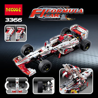 DECOOL 3366 1219Pcs building blocks technic formula speed Champions racer car sets model city avion MOC F1 Enzoed 3366/3388