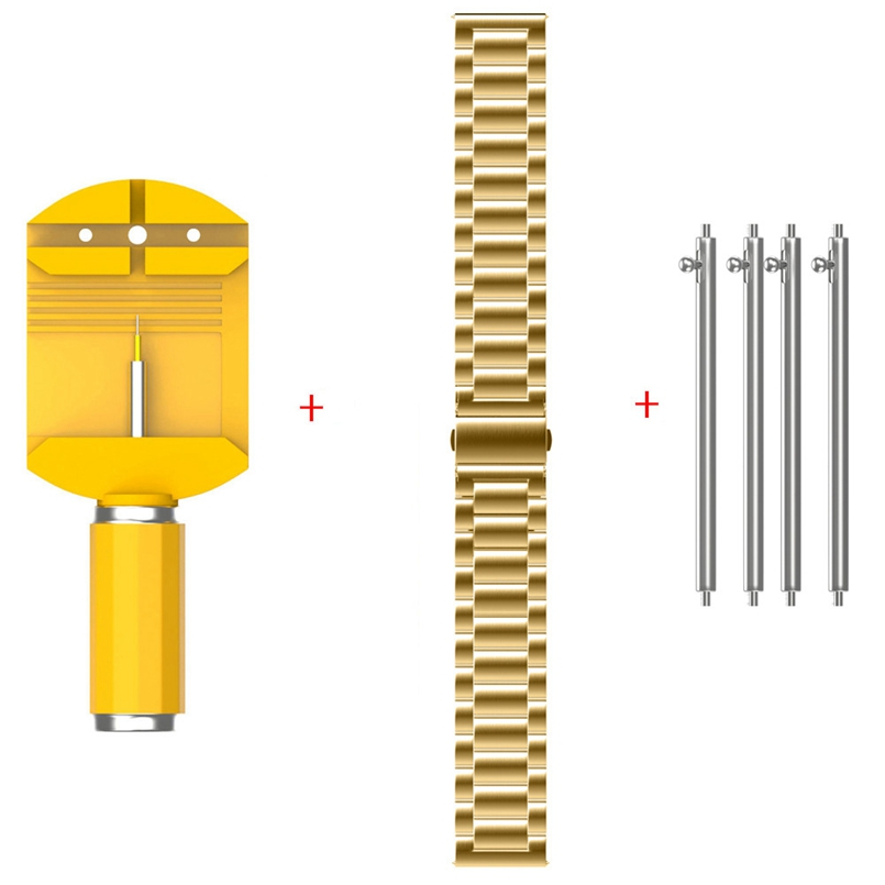 New Arrive 1pc Universal Stainless Steel Watch Strap Bands,4pc watch Connector ,1pc Tool 22mm/20mm/18mm