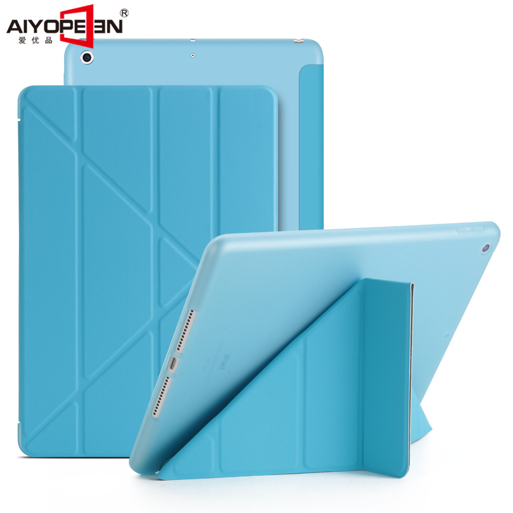For ipad 9.7 2018 Case tpu back cover+pu Leather smart wake up sleep magnetic flip stand Origimi brand aiyopeen A1893 A1954 case for ipad mini 1 2 3 smart cover soft tpu silicone back pu leather flip stand auto sleep wake up capa for ipad mini case