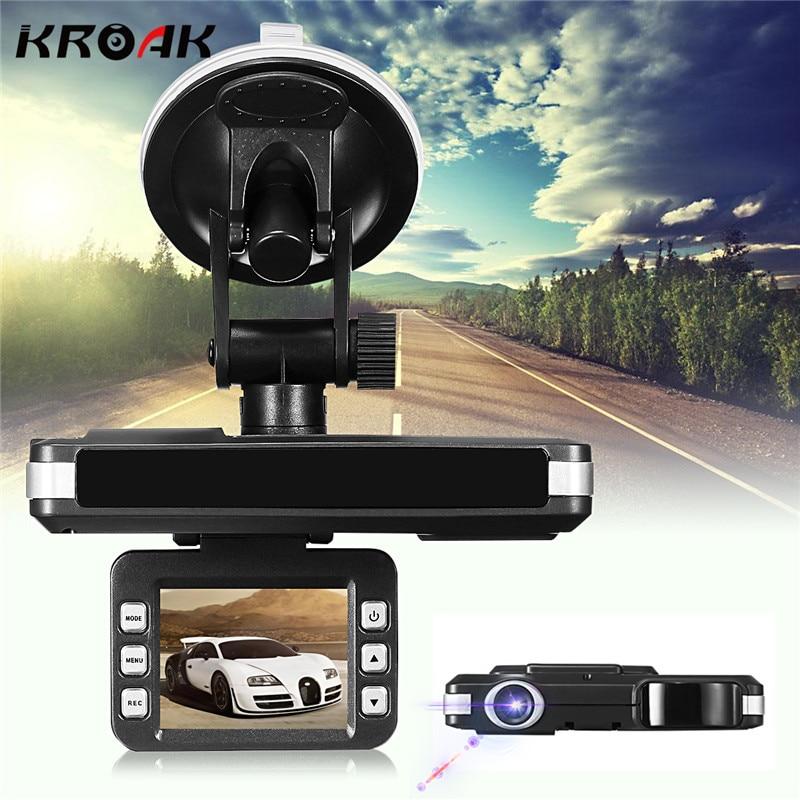 Kroak 2 в 1 720 P HD Видеорегистраторы для автомобилей Камера рекордеры Trafic Радар лазерный Скорость детектор DVR Камера Русский Английский