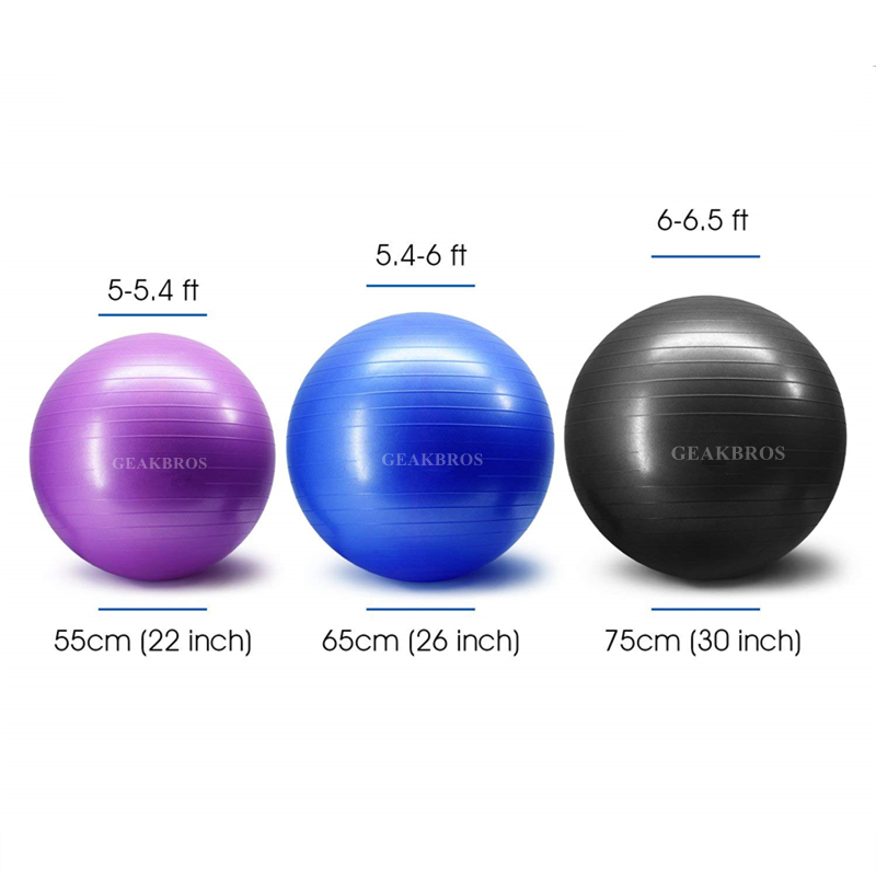 Anti-slip Exercise Balls with Pump Suitable for Yoga/Gym/Workout/Pilates 1