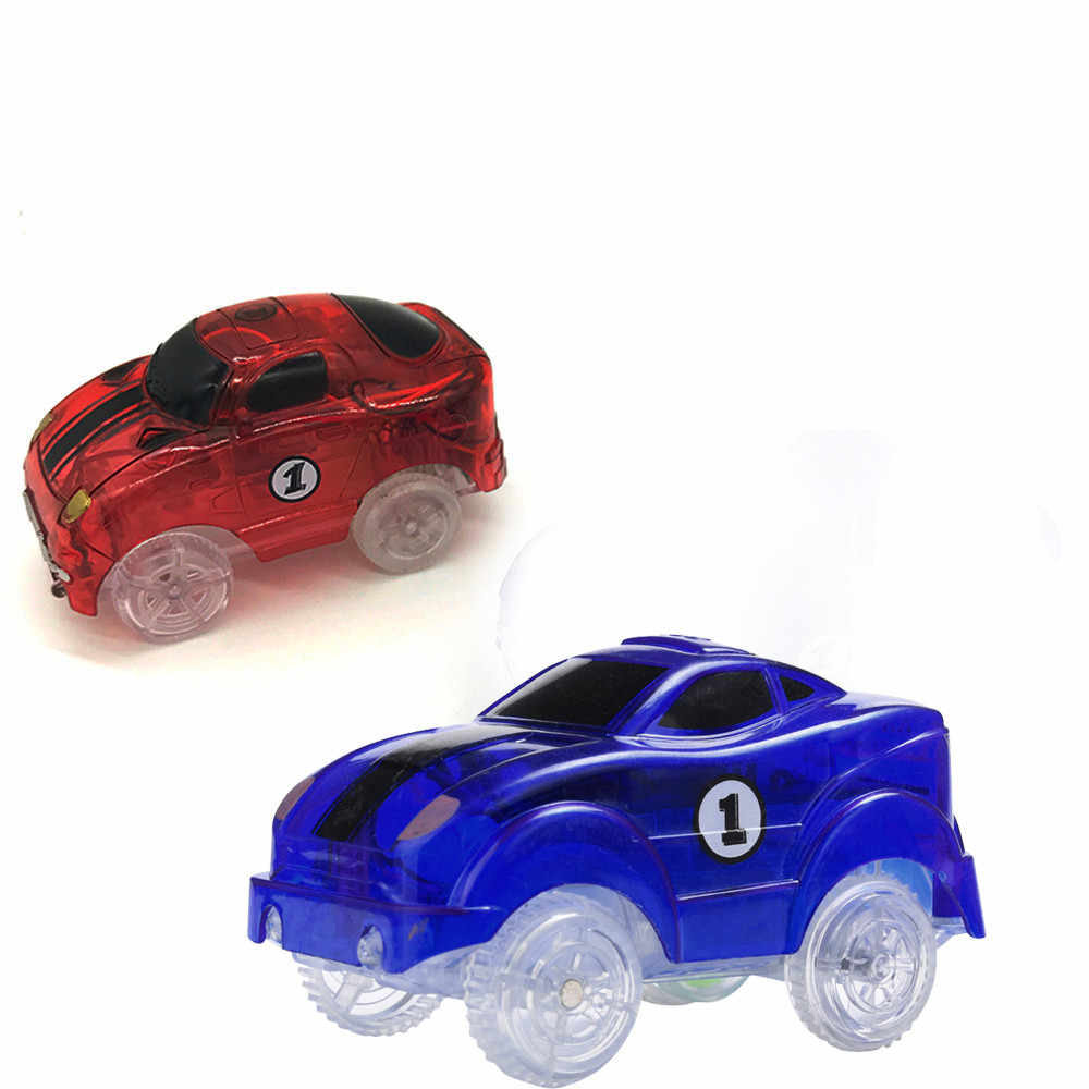 Kids Toy Baby Funny Toys For Boy Girl New Cars For Magic Tracks Glow in the Dark Amazing Racetrack Light Up Race Car