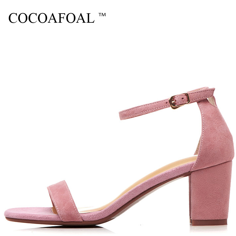 COCOAFOAL Women Open Toe High Heels Sandals Genuine Leather Sexy Peep Toe Heels Shoes Pink Blue Black Sheepskin Wedding Sandals cocoafoal woamn patent leather sandals fashion heel height black white wedding shoes sexy genuine leather pointed toe sandals