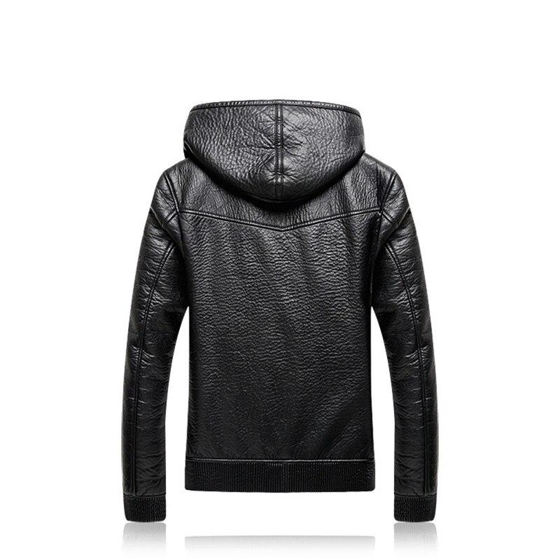 Mode européenne et américaine Style de rue Outwear Plus velours veste en cuir nouveau décontracté hommes grande taille manteau 4XL 5XL - 2