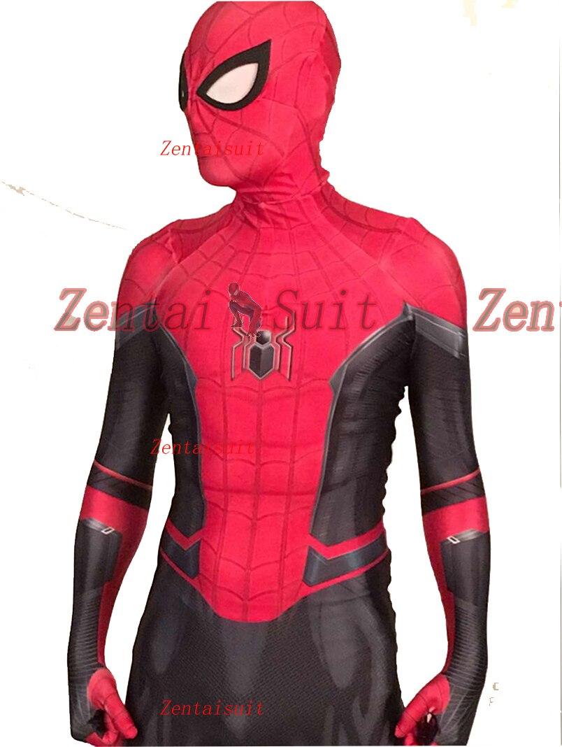 Coole Neue Spinne Mann Weit Von Homecoming Kostüm Lycra/Spandex 3D Gedruckt halloween cosplay superheld zentai anzug