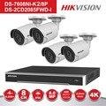 HIK 8 канальный POE NVR комплект видеонаблюдения системы 4 шт. открытый 8MP цилиндрическая POE IP камера P2P товары теле и