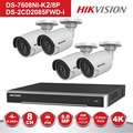 HIK 8 Kanal POE NVR Kit CCTV Security System 4 PCS Outdoor 8MP Kugel POE IP Kamera P2P Video Überwachung system