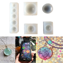 Semicircle Round Circle Silicone Cake Decorating Molds Epoxy Resin Crystal Diamond Jewelry Necklace Mould Making Craft Mould